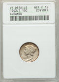 1942/1 10C -- Cleaned -- ANACS. VF Details Net Fine 12. NGC Census: (0/0). PCGS Population: (89/2902). CDN: $340 Whsle...