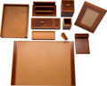 Luxury Accessories:Accessories, Hermès Lacquered Burl Wood Desk Set (Set of Ten). Condition: 2. See Extended Condition Report for Sizes. ... (Total: 10 Items)