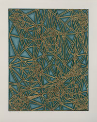 James Siena (b. 1958) Untitled, 2006 Screenprint in colors on wove paper 36 x 28-1/2 inches (91.4