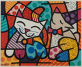 Prints & Multiples:Print, After Romero Britto . Happy Cat and Snob Dog, 2016. Screenprint in colors on paper. 22-1/2 x 27-3/4 inches (57.2 x 70.5 ...