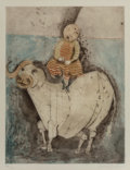 Prints & Multiples:Print, Graciela Rodo Boulanger (b.1935). Untitled, n.d.. Etching with aquatint in colors on Japon paper. 27-1/4 x 21 inches (69...