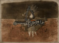 Prints & Multiples:Print, Johnny Friedlaender (1912-1992). Untitled, n.d.. Etching and aquatint in colors on paper. 22-1/2 x 29-7/8 inches (57.2 x...