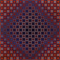 Prints & Multiples:Print, Victor Vasarely (1906-1997). Boglar, 1966. Screenprint in colors on card mounted on wood, trimmed margins. 19-3/4 x 19-3...