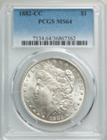 1882-CC $1 MS64 PCGS. PCGS Population: (12980/7319). NGC Census: (6296/3493). CDN: $225 Whsle. Bid for problem-free NGC/...