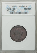 1800 1/2 C -- Cleaned -- ANACS. Fine 12 Details. NGC Census: (0/0). PCGS Population: (13/324). CDN: $125 Whsle. Bid for...