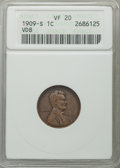 1909-S 1C VDB VF20 ANACS. NGC Census: (461/4732). PCGS Population: (921/9265). CDN: $615 Whsle. Bid for problem-free NGC...