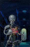Original Comic Art:Illustrations, Ed Valigursky (American, 1926-2009). The Changeling Worlds paperback cover, 1959. Acrylic on board. 23.25 x 15 in.. Not ...