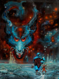 Original Comic Art:Illustrations, Kelly Freas (American, 1922-2005). The Werewolf Principal paperback cover, 1982. Acrylic on board. 18-1/2 x 13-3/4 in.. ...