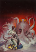 Original Comic Art:Illustrations, Peter Andrew Jones (American, b. 1951). The Best of MurrayLeinster anthology cover, 1976. Acrylic on ...
