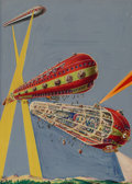 Pulp, Pulp-like, Digests, and Paperback Art, Frank R. Paul (American, 1884-1963)The Ark ...
