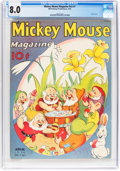 Golden Age (1938-1955):Cartoon Character, Mickey Mouse Magazine V3#7 (Walt Disney Productions, 1938) CGC VF 8.0 Cream to off-white pages....