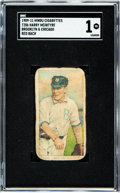 Baseball Cards:Singles (Pre-1930), 1909-11 T206 Hindu-Red Harry McIntyre (Brooklyn & Chicago) SGC Poor 1 - Only Eight Graded Examples. ...