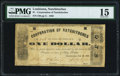 Obsoletes By State:Louisiana, Natchitoches, LA- Corporation of Natghitoches (sic) $1 Feb. 2, 1863 PMG Choice Fine 15.. ...