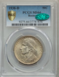 Commemorative Silver, 1938-D 50C Boone MS66 PCGS Gold Shield. CAC. PCGS Population: (196/83). NGC Census: (123/34). CDN: $500 Whsle. Bid for prob...