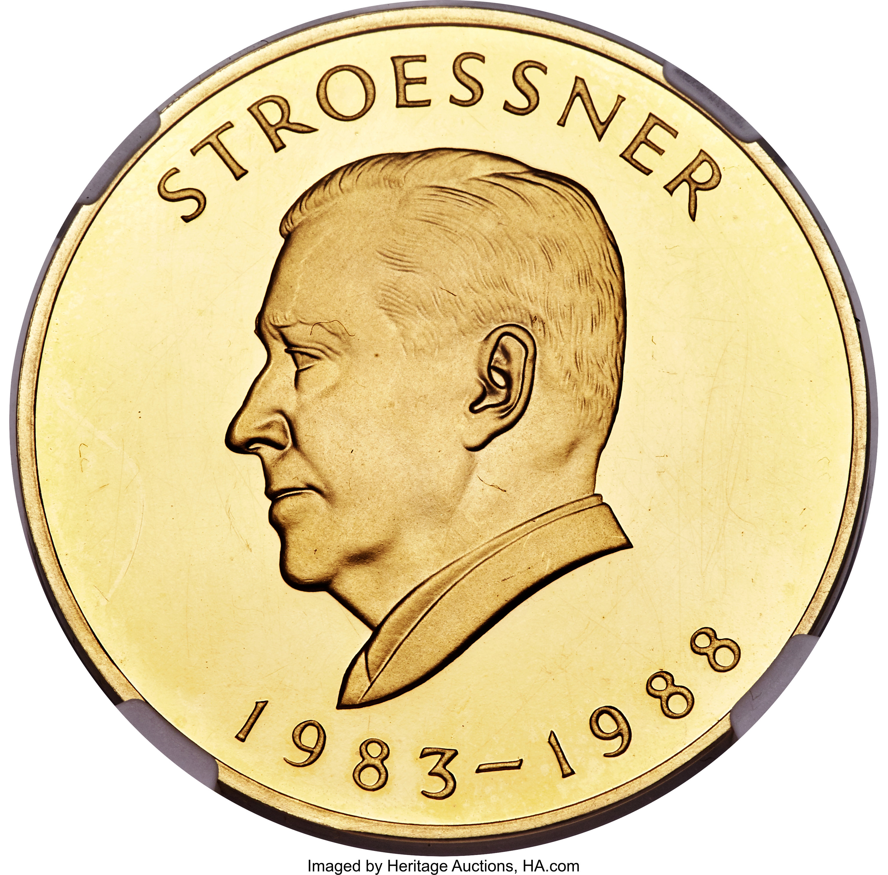 Paraguay Republic Gold Proof Stroessner 100000 Guaranies Nd Lot 31639 Heritage Auctions