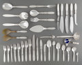 Silver & Vertu:Flatware, A One Hundred and Eighty-Seven-Piece Georg Jensen Cactus Pattern Silver Flatware Service, Copenhagen, Denmark, d... (Total: 187 )