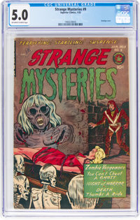 Strange Mysteries #9 (Superior Comics, 1953) CGC VG/FN 5.0 Off-white to white pages