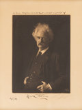Autographs:Authors, [Samuel Clemens]. Mark Twain Signed and Inscribed Photograph....