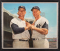 Baseball Collectibles:Others, Circa 2000 Roger Maris & Mickey Mantle Original Painting by Ron Stark....