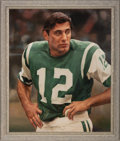 Football Collectibles:Others, Joe Namath Original Painting by Ron Stark....