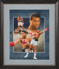 Boxing Collectibles:Autographs, 1988 Muhammad Ali Signed Original Artwork by Christopher Paluso....