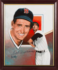 Baseball Collectibles:Bats, Ted Williams Signed Original Painting by Leon Wolf....