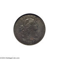 Large Cents: , 1797 1C Reverse of 1795, Gripped Edge AU53 NGC. XF45 EAC....