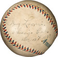 Baseball Collectibles:Balls, 1937 Tony Lazzeri Single Signed Baseball, PSA/DNA EX-MT 6. ...