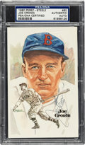 Autographs:Post Cards, 1980 Joe Cronin Signed Perez-Steele Postcard, PSA/DNA Authentic....