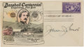 Autographs:Others, 1939 John Evers Signed Baseball Centennial First Day Cover. ...