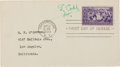 Autographs:Others, 1939 Ty Cobb Signed Baseball Centennial First Day Cover, PSA/DNA Mint 9....