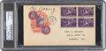 Autographs:Index Cards, 1939 Cy Young Signed Baseball Centennial First Day Cover, PSA/DNA Authentic. ...