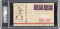 "Autographs:Letters, 1939 Lewis ""Hack"" Wilson Baseball Centennial Signed First DayCover, PSA/DNA Authentic. ..."