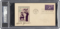 1939 Tris Speaker Signed Baseball Centennial First Day Cover, PSA/DNA Authentic