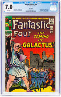 Fantastic Four #48 UK Edition (Marvel, 1966) CGC FN/VF 7.0 White pages