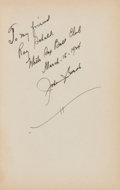 Baseball Collectibles:Others, 1924 Johnny Evers Signed Book to Ray Schalk, PSA/DNA NM-MT 8....