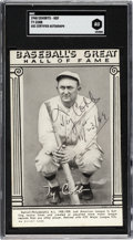"Autographs:Post Cards, 1948 ""Baseball's Great Hall of Fame"" Exhibit Card Signed & Inscribed by Ty Cobb, PSA/DNA Mint 9. ..."
