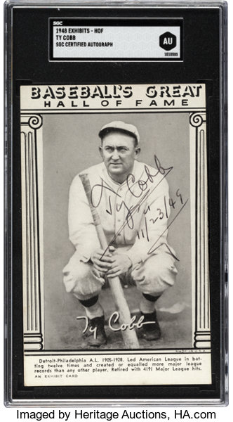 1948 Baseballs Great Hall Of Fame Exhibit Card Signed