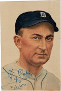 Autographs:Photos, 1951 Ty Cobb Signed Magazine Photograph, PSA/DNA NM-MT 8....