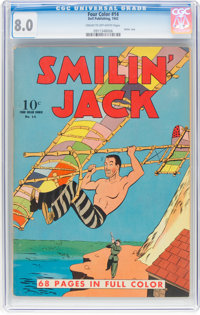 Four Color #14 Smilin' Jack (Dell, 1942) CGC VF 8.0 Cream to off-white pages