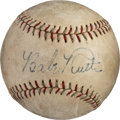 Baseball Collectibles:Balls, Circa 1930 Babe Ruth Single Signed Baseball....