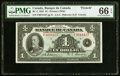 Canadian Currency, BC-2 $1 1935 PMG Gem Uncirculated 66 EPQ.. ...