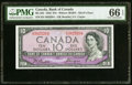 Canadian Currency, BC-32b $10 1954 Devil's Face PMG Gem Uncirculated 66 EPQ.. ...