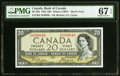 Canadian Currency, BC-33b $20 1954 Devil's Face PMG Superb Gem Unc 67 EPQ.. ...