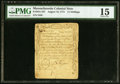 Colonial Notes:Massachusetts, Massachusetts August 18, 1775 11s PMG Choice Fine 15.. ...