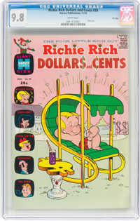 Richie Rich Dollars and Cents #39 File Copy (Harvey, 1970) CGC NM/MT 9.8 White pages