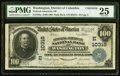 National Bank Notes:District of Columbia, Washington, DC - $100 1902 Plain Back Fr. 702a Federal-American NB Ch. # (E)10316 PMG Very Fine 25.. ...