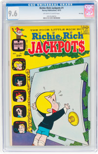 Richie Rich Jackpots #1 File Copy (Harvey, 1972) CGC NM+ 9.6 Off-white to white pages