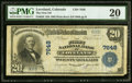National Bank Notes:Colorado, Loveland, CO - $20 1902 Plain Back Fr. 650 The First NB Ch. # 7648 PMG Very Fine 20.. ...