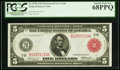 Fr. 833b $5 1914 Red Seal Federal Reserve Note PCGS Superb Gem New 68PPQ